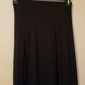 Candies Black Maxi Skirt Double Front Slits